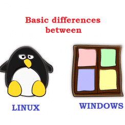difference between linux and windows